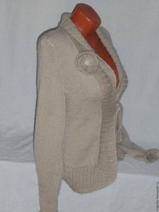 Кофты и свитера ручной работы. Ярмарка Мастеров - ручная работа. Купить Жакет с воротником-шалькой. Handmade. Бежевый, на каждый день