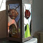 Для дома и интерьера ручной работы. Ярмарка Мастеров - ручная работа Светильник витражный. Handmade.