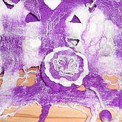 Аксессуары ручной работы. Ярмарка Мастеров - ручная работа Шарф Фиолетовый Акварель. Handmade.