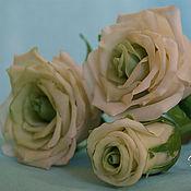 Цветы и флористика ручной работы. Ярмарка Мастеров - ручная работа Букет из белых роз. Handmade.