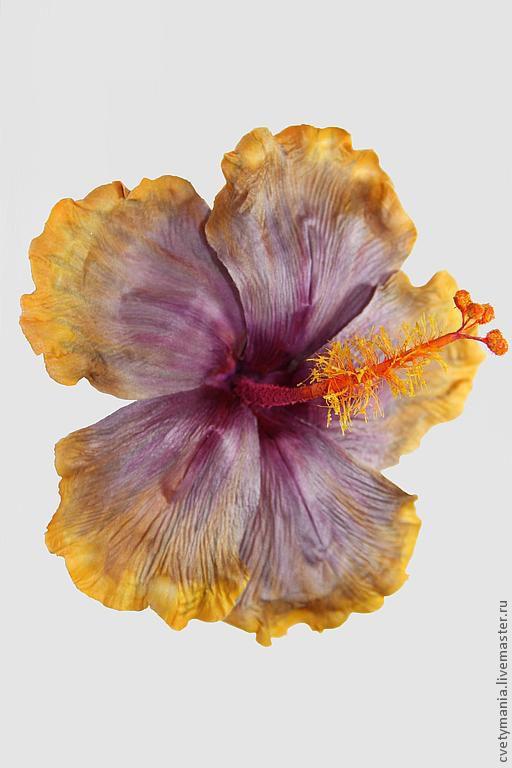 """Броши ручной работы. Ярмарка Мастеров - ручная работа. Купить Гибискус """"ЭРОС"""". Handmade. Цветы, цветы из ткани, шелк, гибискус"""