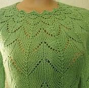 """Одежда ручной работы. Ярмарка Мастеров - ручная работа Джемпер """"зеленые листочки"""". Handmade."""