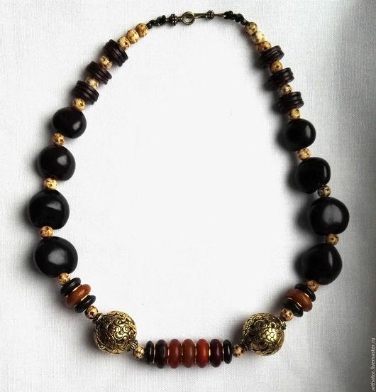 Колье, бусы ручной работы. Ярмарка Мастеров - ручная работа. Купить Ожерелье в этно стиле  с винтажными непальскими бусинами.. Handmade.