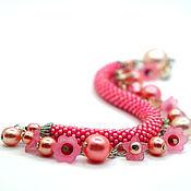 Украшения handmade. Livemaster - original item Harness Bead Bracelet Pink dreams. Handmade.
