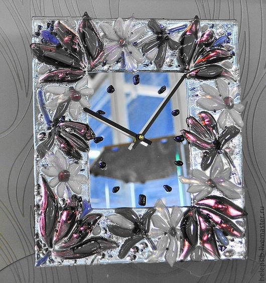"""Часы для дома ручной работы. Ярмарка Мастеров - ручная работа. Купить Часы """"Лиловый цвет"""". Handmade. Бледно-сиреневый"""