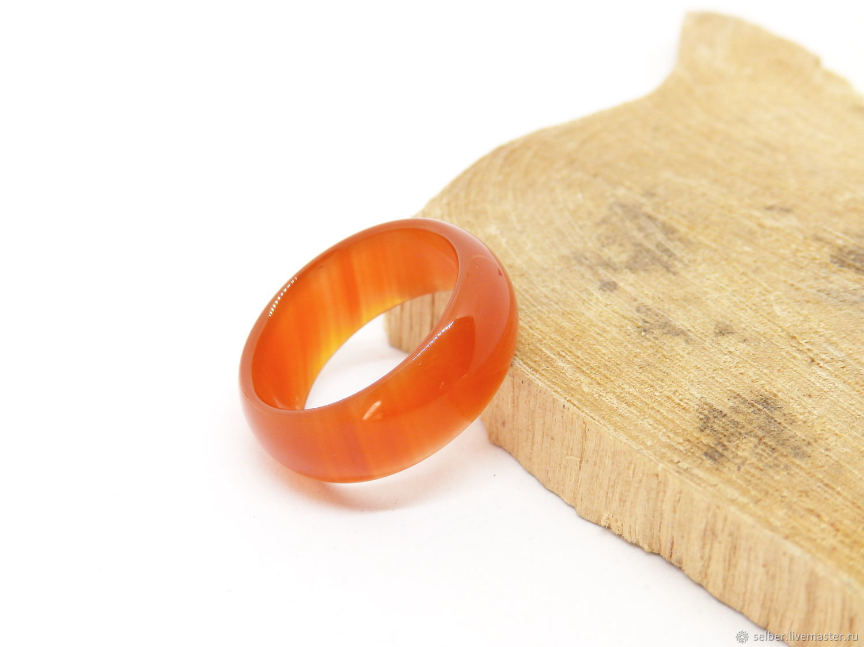 20 p Wide Ring Carnelian agate (SHSA20), Rings, Gatchina,  Фото №1