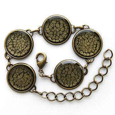 Decorations handmade. Livemaster - original item Bracelet gray-black color. Handmade.