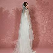 Свадебный салон ручной работы. Ярмарка Мастеров - ручная работа Свадебная фата в стиле ретро, фата со шлейфом А-7. Handmade.
