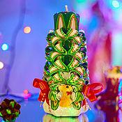 Свечи ручной работы. Ярмарка Мастеров - ручная работа Резная свеча. Новый Год. Рождество. Handmade.