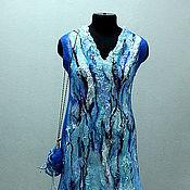 """Одежда ручной работы. Ярмарка Мастеров - ручная работа """"Голубая лагуна"""" платье и сумка. Handmade."""