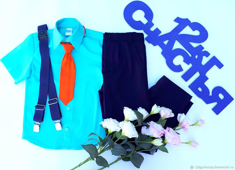 Одежда для мальчиков, ручной работы. Ярмарка Мастеров - ручная работа. Купить Костюм для мальчика 'Стиляги', фиолетовая клетка. Handmade. Стиляги