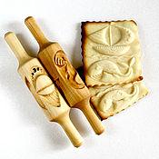 Для дома и интерьера ручной работы. Ярмарка Мастеров - ручная работа скалка детская для печенья и пряников кит и кораблик. Handmade.