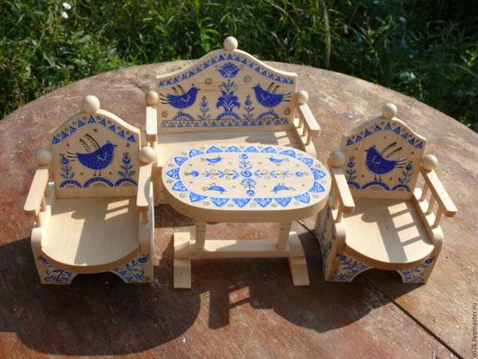 Кукольный дом ручной работы. Ярмарка Мастеров - ручная работа. Купить Мебель для гостиной. Handmade. Мебель, гуашь