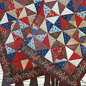 Для дома и интерьера ручной работы. Ярмарка Мастеров - ручная работа Лоскутное одеяло Калинка-малинка. Handmade.