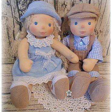 Куклы и игрушки ручной работы. Ярмарка Мастеров - ручная работа Малыши по вальдорфским мотивам Степа и Стеша. Handmade.