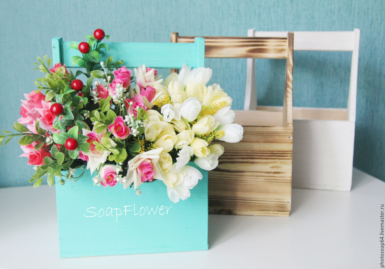 ящик фото деревянный для цветов