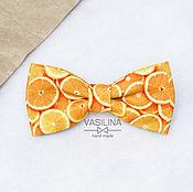 Галстуки ручной работы. Ярмарка Мастеров - ручная работа Галстук бабочка Апельсины. Handmade.