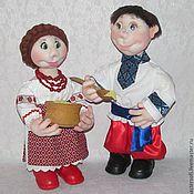 Куклы и игрушки handmade. Livemaster - original item Dolls in Ukrainian style. Dolls in the technique of sculptural textiles.. Handmade.