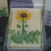 """Косметика ручной работы. Ярмарка Мастеров - ручная работа """"Солнечный цветок"""" Натуральное мыло из растительных масел. Handmade."""