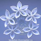 Украшения ручной работы. Ярмарка Мастеров - ручная работа Шпильки-цветы из атласных лент. Handmade.