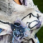 Аксессуары ручной работы. Ярмарка Мастеров - ручная работа шарф бохо  Жемчужный. Handmade.