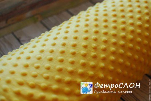 Шитье ручной работы. Ярмарка Мастеров - ручная работа. Купить Плюш минки дот желтый Польша. Handmade. Желтый, ткань
