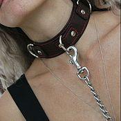 Субкультуры handmade. Livemaster - original item Bdsm collar / Leather collar. Handmade.