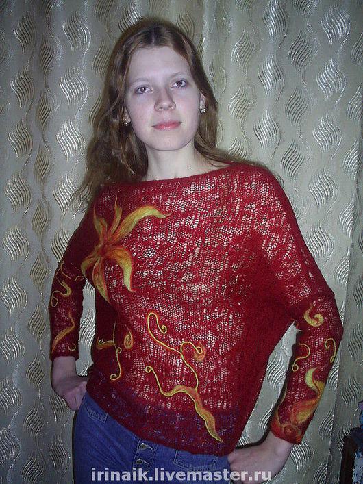 Кофты и свитера ручной работы. Ярмарка Мастеров - ручная работа. Купить Лилия. Handmade. Шерсть