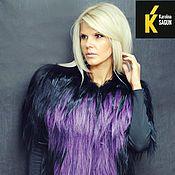 Одежда ручной работы. Ярмарка Мастеров - ручная работа Жилет из яка черно-фиолетовый. Handmade.