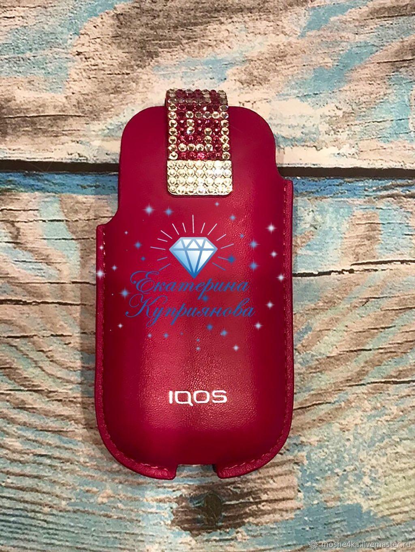 Soft IQOS (Pink) case with Swarovski crystals – shop online on Livemaster  with shipping - J3F6PCOM | Krasnogorsk