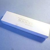 Коробки ручной работы. Ярмарка Мастеров - ручная работа Коробка с Вашим логотипом - 20х5х3 - белый мелованый картон. Handmade.