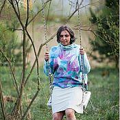 Одежда ручной работы. Ярмарка Мастеров - ручная работа Свитер женский валяный «Цветение». Handmade.
