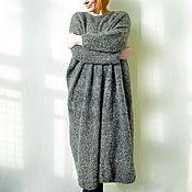 Одежда ручной работы. Ярмарка Мастеров - ручная работа Теплое вязаное платье свободное ( забронировано ). Handmade.