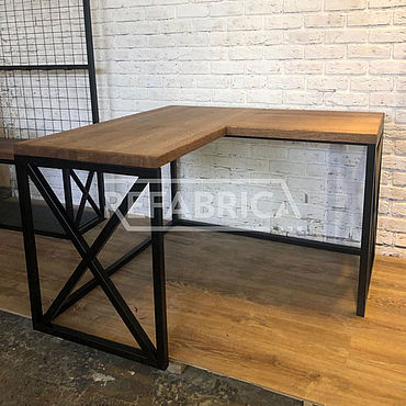 Мебель ручной работы. Ярмарка Мастеров - ручная работа Лофт стол угловой из массива дуба. Handmade.