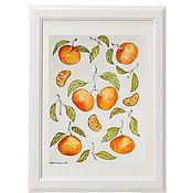 Картины и панно handmade. Livemaster - original item Watercolor Tangerines. Handmade.