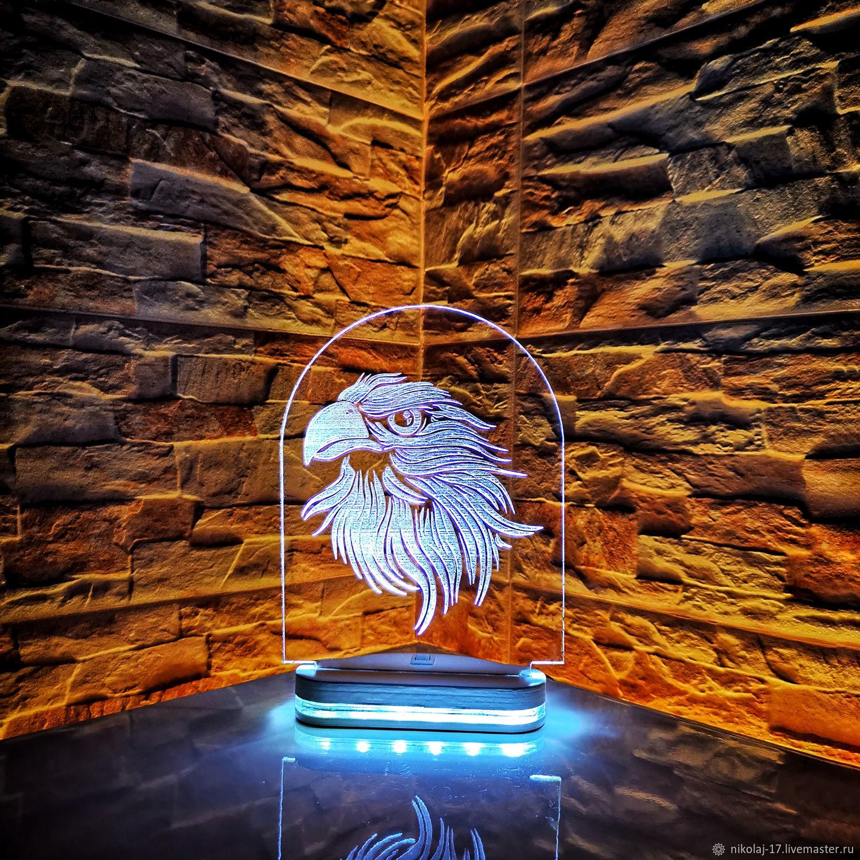 Night light eagle / Lamp / 3D night light, Lamps, Yaroslavl, Фото №1
