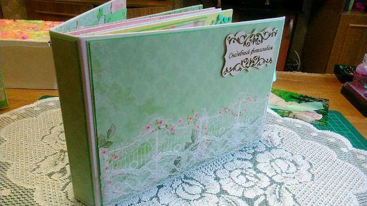 Свадебные фотоальбомы ручной работы. Ярмарка Мастеров - ручная работа. Купить Свадебный альбом. Handmade. Свадьба, бумага, ленты атласные