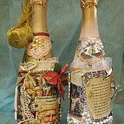 """Сувениры и подарки ручной работы. Ярмарка Мастеров - ручная работа Бутылка """"Новогодняя"""" для дам. Handmade."""