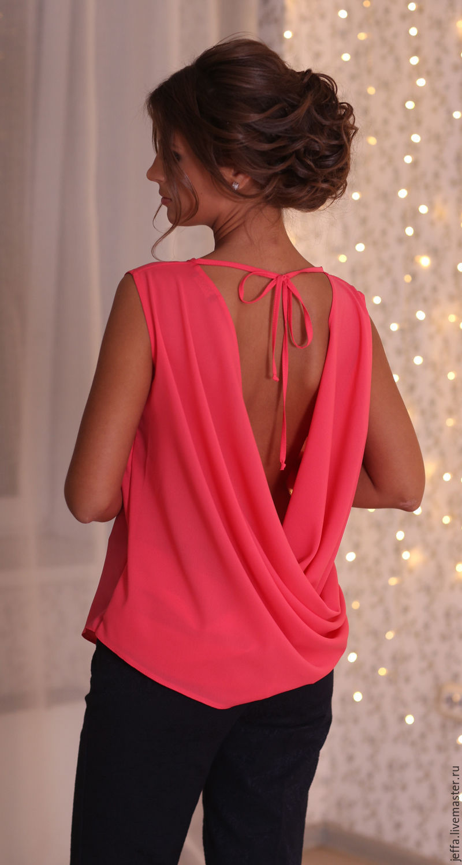 Блузка из крепа