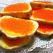 Мыло ручной работы. Ярмарка Мастеров - ручная работа Мыло Бутерброд с красной икрой. Handmade.