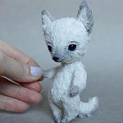 Куклы и игрушки ручной работы. Ярмарка Мастеров - ручная работа Белый волчонок. Handmade.
