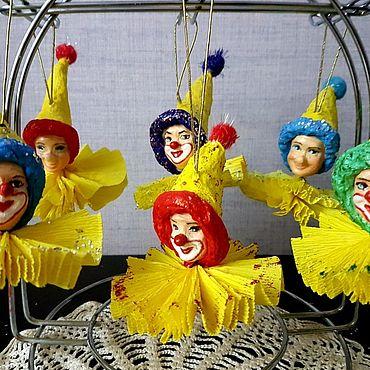 Подарки к праздникам handmade. Livemaster - original item Funny clowns, snowflakes. Handmade.
