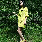 Одежда ручной работы. Ярмарка Мастеров - ручная работа Платье туника - яркий лайм. Handmade.