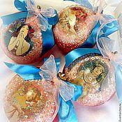 """Подарки к праздникам ручной работы. Ярмарка Мастеров - ручная работа набор елочных игрушек """" По мотивам Мухи"""". Handmade."""
