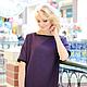 Платья ручной работы. Ярмарка Мастеров - ручная работа. Купить Платье фиолетовое. Handmade. Фиолетовый, платье модное, платье в офис
