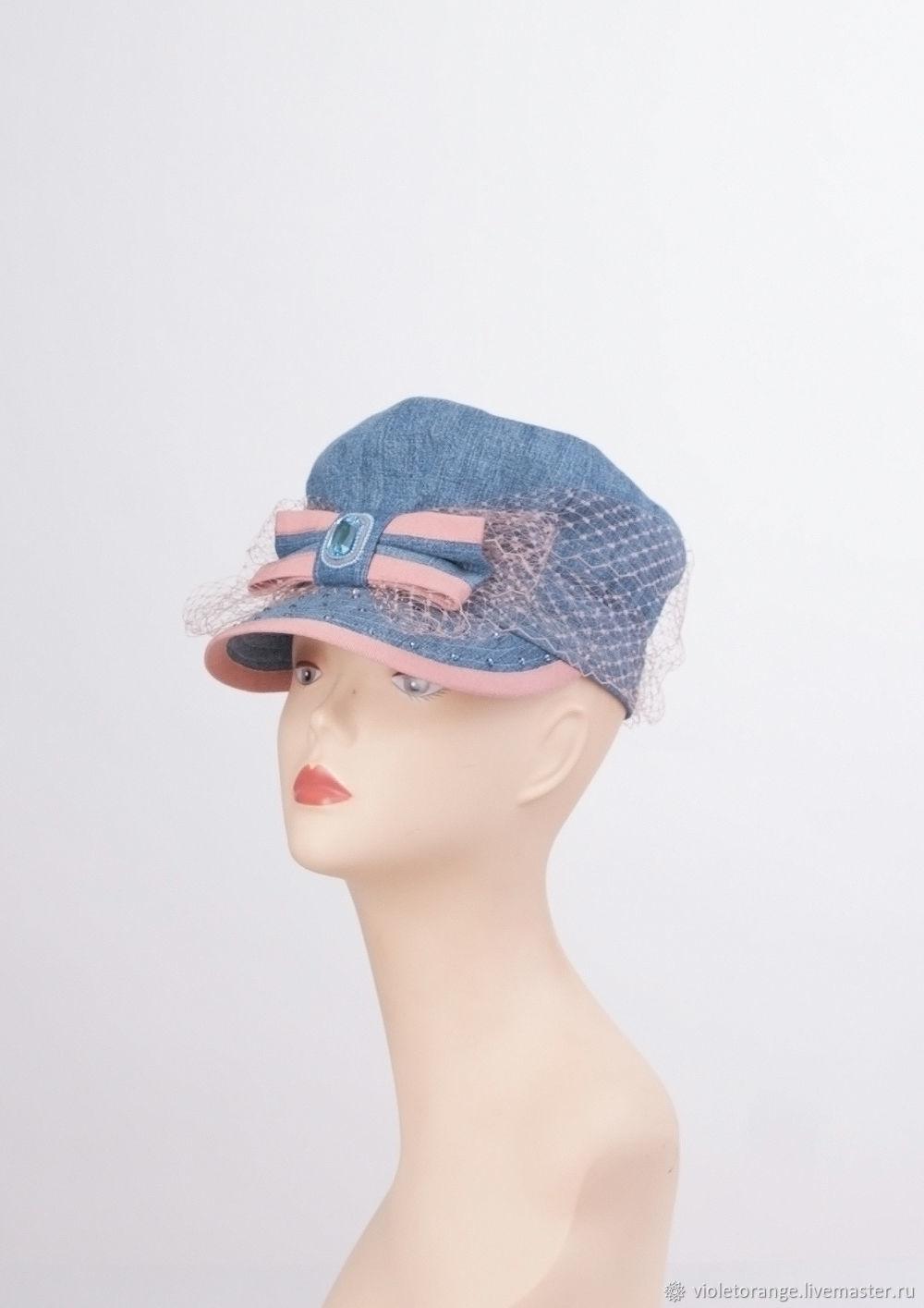 Cap.Cap.To purchase a hat.Ladies cap. Denim cap – shop online on ... 339db8f9572