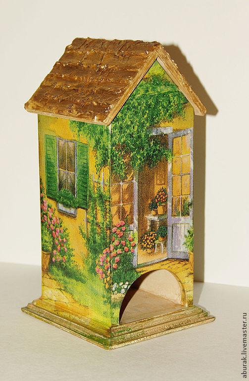 Кухня ручной работы. Ярмарка Мастеров - ручная работа. Купить Солнечный чайный домик. Handmade. Зеленый, для чая, домик