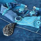 Украшения ручной работы. Ярмарка Мастеров - ручная работа Шелковое украшение на шею. Handmade.