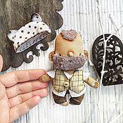 Куклы и игрушки ручной работы. Ярмарка Мастеров - ручная работа Bear and beard -  текстильная кукла - мужик в шапочке мишки. Handmade.