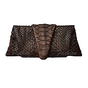 Сумки и аксессуары handmade. Livemaster - original item Evening clutch made of Python-PYRAMID. Handmade.